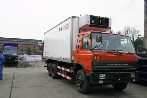 东风厢式冷藏车销售、厢式冷藏车图片EQ5242XLC1